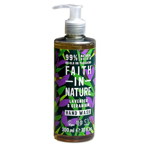 Faith in Nature, Lavender & Geranium Handwash 300ml - Sweet Victory Products Ltd