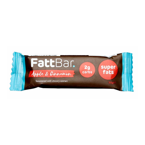 FattBar Apple & Cinnamon Snack Bar 30g