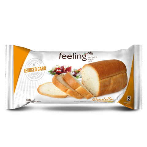 Feeling ok Low Carb Bauletto Bread Loaf - Plain 300g