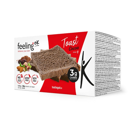 Feeling ok Low Carb Toast - Sweet Cocoa 4x 40g-160g