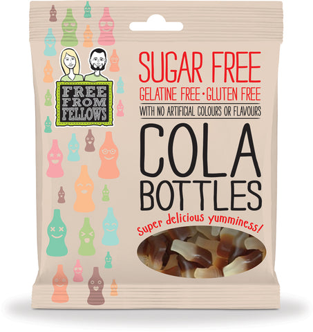 Sugar Free Vegan Sweet Cola Bottles - Free From Fellows 100g - Sweet Victory Products Ltd