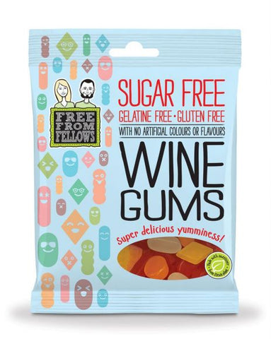 Sugar Free Vegan Wine Gums Sweets - Free From Fellows 100g - Sweet Victory Products Ltd