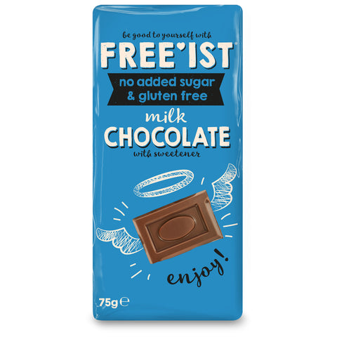 FREE'IST SUGAR FREE GLUTEN FREE MILK CHOCOLATE 75g - Sweet Victory Products Ltd