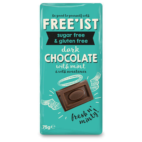 FREE'IST SUGAR FREE DARK CHOCOLATE WITH MINT 75g - Sweet Victory Products Ltd