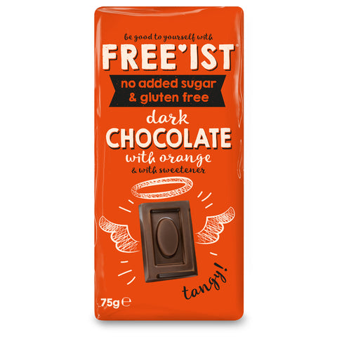 FREE'IST NO ADDED SUGAR DARK CHOCOLATE WITH ORANGE 75g - Sweet Victory Products