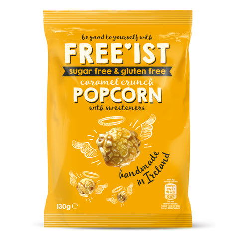 FREE'IST SUGAR FREE CARAMEL CRUNCH POPCORN 130g - Sweet Victory Products Ltd
