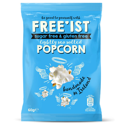FREE'IST SUGAR FREE LIGHTLY SEA SALTED POPCORN 60g - Sweet Victory Products Ltd