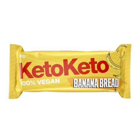 KetoKeto Banana Bread Low Carb No Added Sugar Biscuit Bar 50g