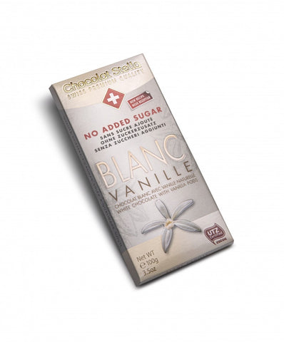 Chocolat Stella No Added Sugar Premium Swiss Chocolate - White With Vanilla Pods