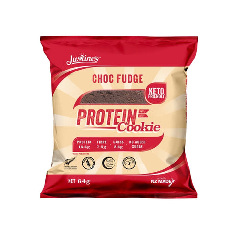 justine's protein keto cookies no added sugar chocolate fudge