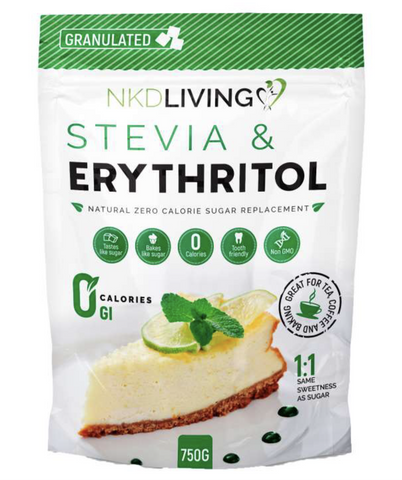 NKD Living Erythritol and Stevia Blend Sugar Alternative 750g