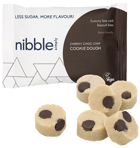 Simply Cheeky Choc Chip Cookie Dough Protein Bites 36g