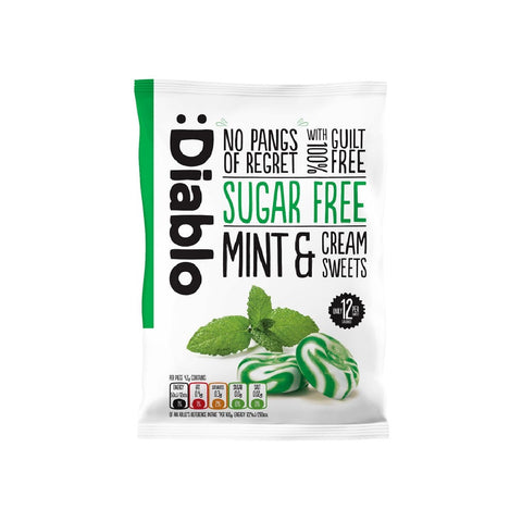 Diablo Sugar Free Mint and Cream Sweets - Sweet Victory Products Ltd