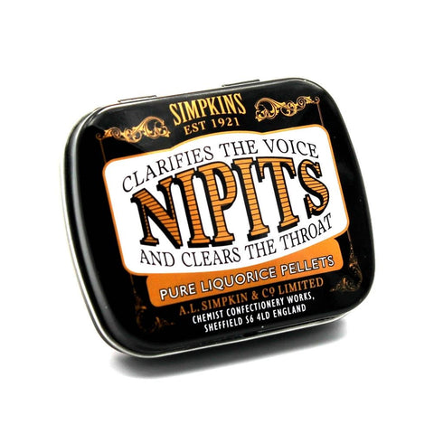 Simpkins Nipits Pure Liquorice Pellets Sweets Tin 12g - Sweet Victory Products Ltd