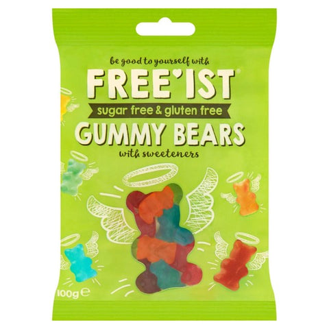 FREE'IST SUGAR FREE GUMMY BEARS SWEETS 100g - Sweet Victory Products Ltd