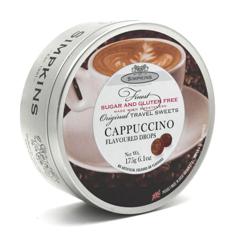 Simpkins Sugar Free Cappuccino sweet Travel Tin - Sweet Victory Products Ltd