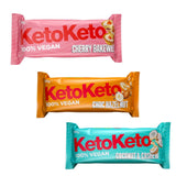 KetoKeto Cherry Bakewell Low Carb No Added Sugar Biscuit Bar 50g - Sweet Victory Products Ltd