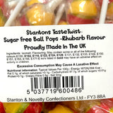 Stantons Sugar Free Rhubarb Wrapped Lollipops x5 - Sweet Victory Products Ltd
