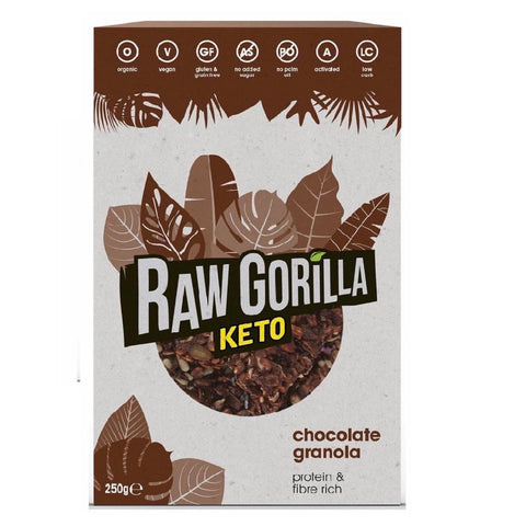 Raw Gorilla Keto Organic Chocolate Granola 250g - Sweet Victory Products Ltd