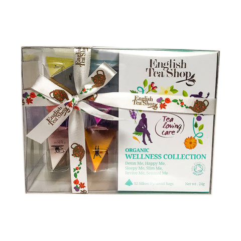 English Tea Shop Organic Wellness Collection Prism Teas 12x24g - Sweet Victory Products Ltd