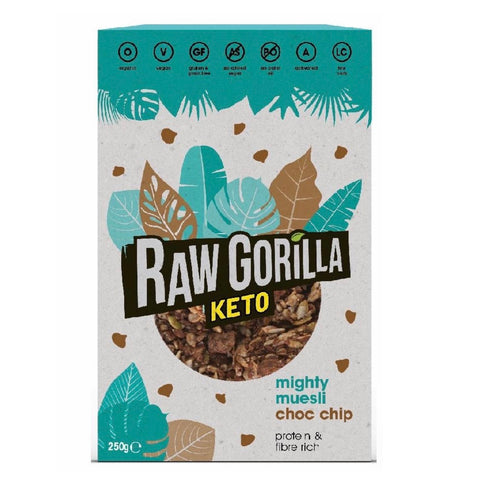 Raw Gorilla Keto Organic Mighty Muesli Chocolate Chip 250g - Sweet Victory Products Ltd
