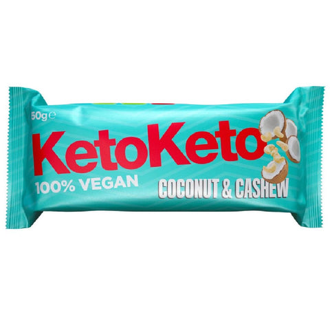 KetoKeto Coconut and Cashew Vegan Keto Biscuit Bar 50g - Sweet Victory Products Ltd