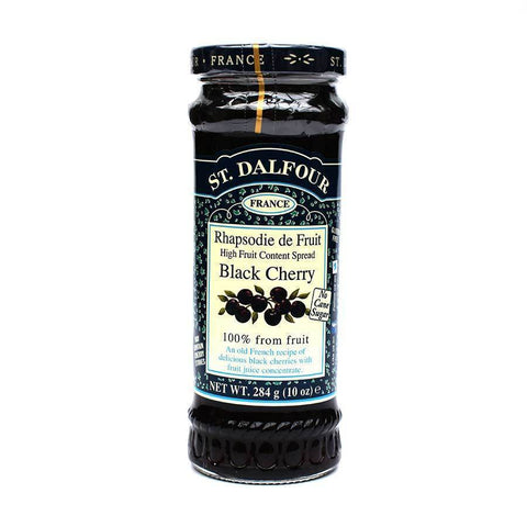 St. Dalfour Black Cherry Jam Spread 284g - Sweet Victory Products Ltd
