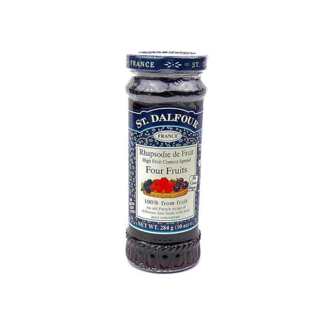 St. Dalfour Four Fruits Preserve No Added Sugar Jam - Sweet Victory Products Ltd
