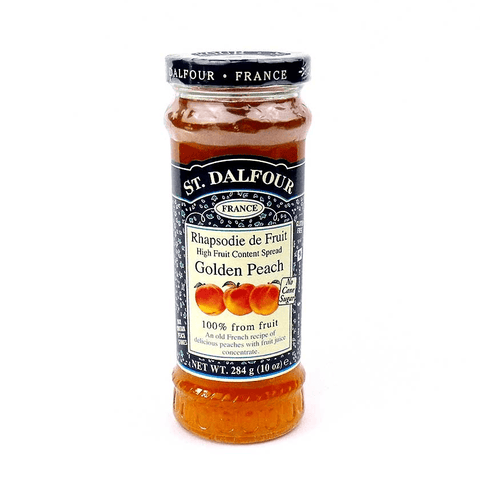 St. Dalfour Golden Peach Preserve No Added Sugar Jam - Sweet Victory Products Ltd