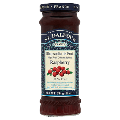 St. Dalfour Raspberry Preserve Spread - Sweet Victory Products Ltd