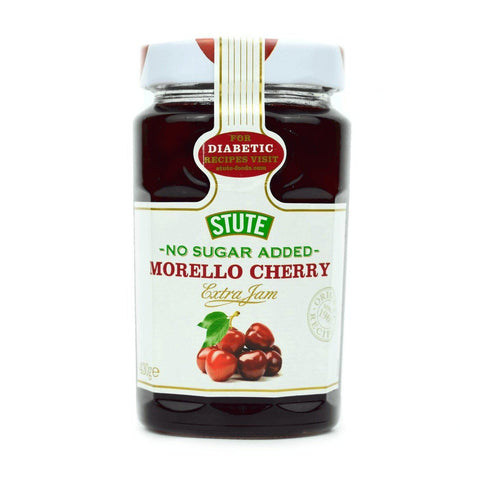 Stute No Added Sugar Morello Cherry Extra Jam 430g - Sweet Victory Products Ltd