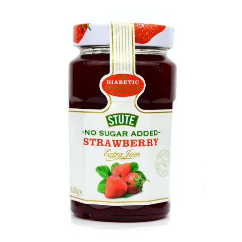 Stute No Added Sugar Strawberry Extra Jam 430gm - Sweet Victory Products Ltd