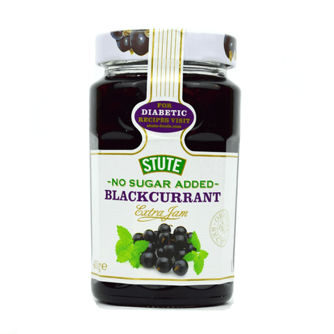 Stute No Sugar Added Blackcurrant Jam 430g - Sweet Victory Products Ltd