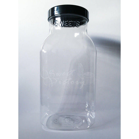 Plastic Sweet Shop Empty Confectionery Display Jar 3lt - Sweet Victory Products Ltd