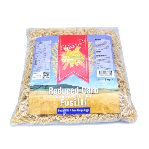 Heart Cafe Lower Carb Fusilli Pasta 1kg - Sweet Victory Products Ltd