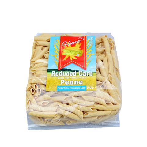 Heart Cafe Lower Carb Penne Pasta 500g - Sweet Victory Products Ltd