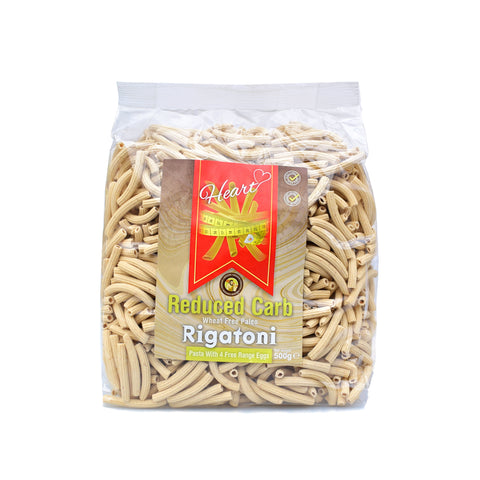 Heart Cafe Low Carb Wheat Free Rigatoni Pasta 500g - Sweet Victory Products