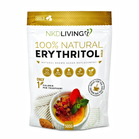 NKD Living Erythritol Gold Brown Sugar Alternative 500g - Sweet Victory Products Ltd