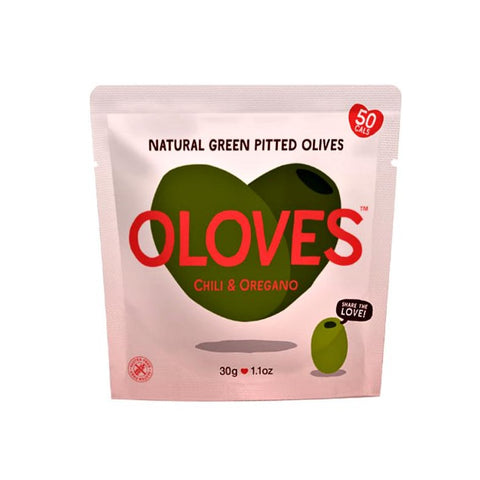 OLOVES Chilli And Oregano Olives 30g - Sweet Victory Products Ltd