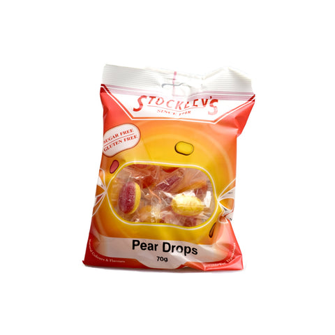 Stockley's Sugar Free Pear Drops Pre-Packed 70g - Sweet Victory Products Ltd