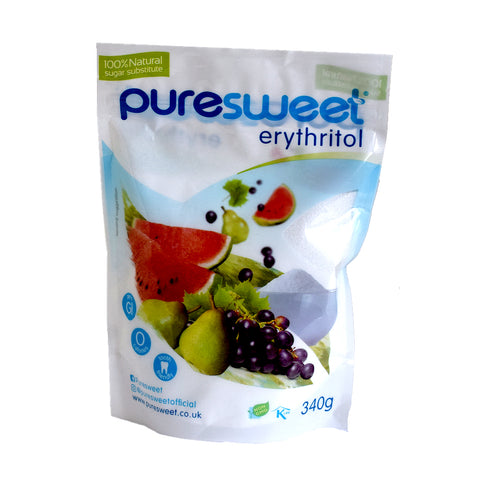 Puresweet Erythritol Sugar Substitute Sweetener 300g - Sweet Victory Products Ltd