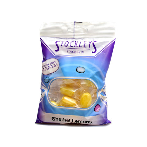 Stockley's Sugar Free Sherbert Lemons Pre-Packed 70g - Sweet Victory Products Ltd