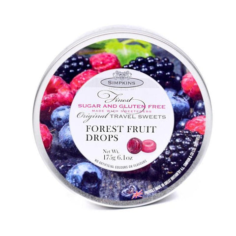 Simpkins Sugar Free Forrest Fruits Drops Travel Tin - Sweet Victory Products Ltd