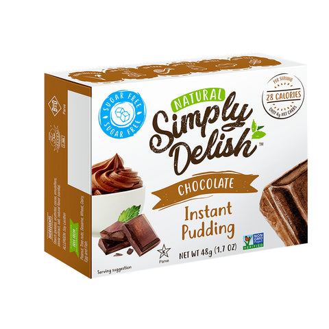 Simply delish Sugar Free Instant Pudding Mix Chocolate 48g - Sweet Victory Products