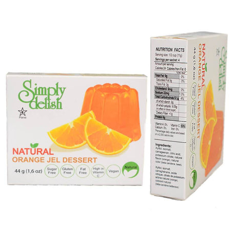 Simply delish Sugar Free Vegan Jelly Dessert Orange 44g - Sweet Victory Products