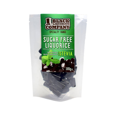 Black Liquorice Company Sugar Free Soft Eating Black Liquorice 165G - Sweet Victory Products Ltd