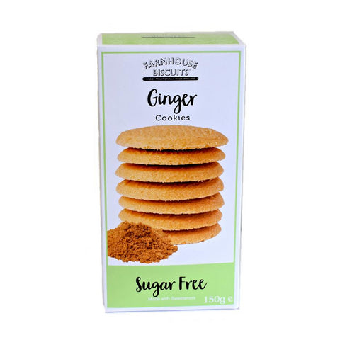 Sugar Free Mild Ginger Farmhouse Biscuits 150g - Sweet Victory Products Ltd