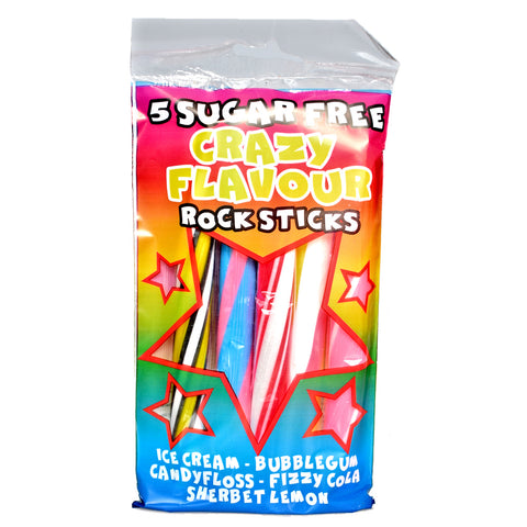 Stanton's Sugar Free Crazy Flavours Blackpool Rock 5 pack - Sweet Victory Products Ltd