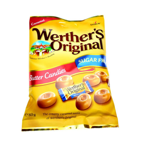 Sugar Free Werther's Original Butter Candies 80g - Sweet Victory Products Ltd