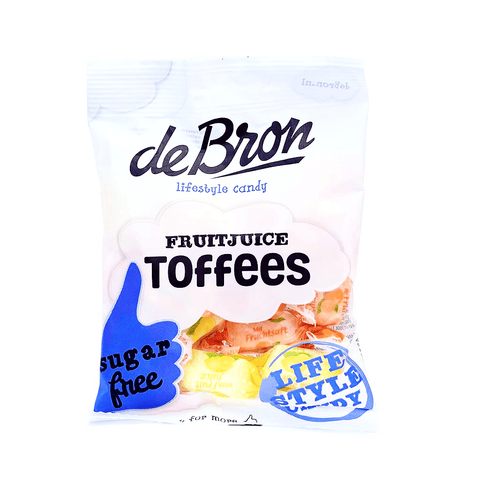 de Bron - Sugar Free Fruit Juice Toffee Chews Sweets - Sweet Victory Products Ltd